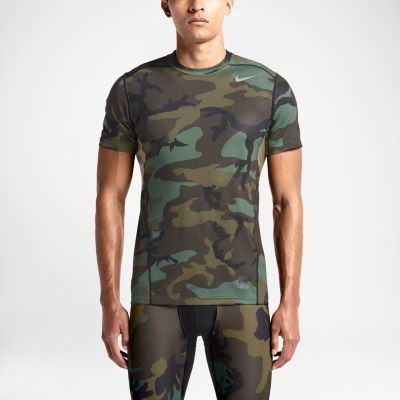 Nike Pro Combat Woodland Fitted Shirt 657442 274 Mens
