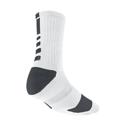 Nike Elite Crew Basketball Socks Extra Large/1 Pair - White, XL