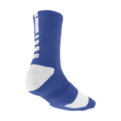 Nike Elite Crew Basketball Socks Extra Large/1 Pair - Royal Blue, XL