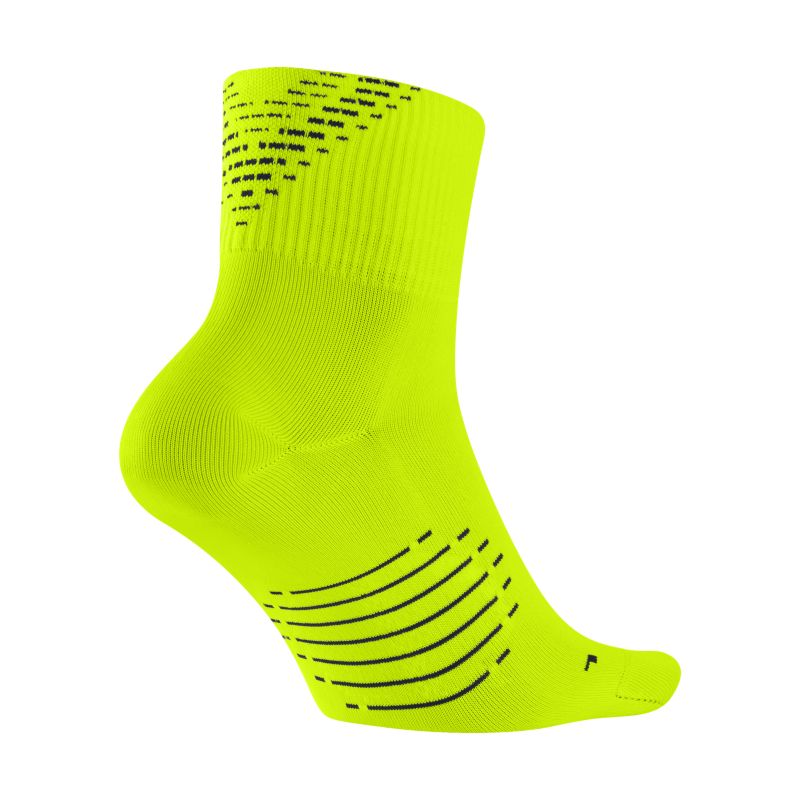 Nike Elite Lightweight 2.0 Quarter Running Socks - Yellow
