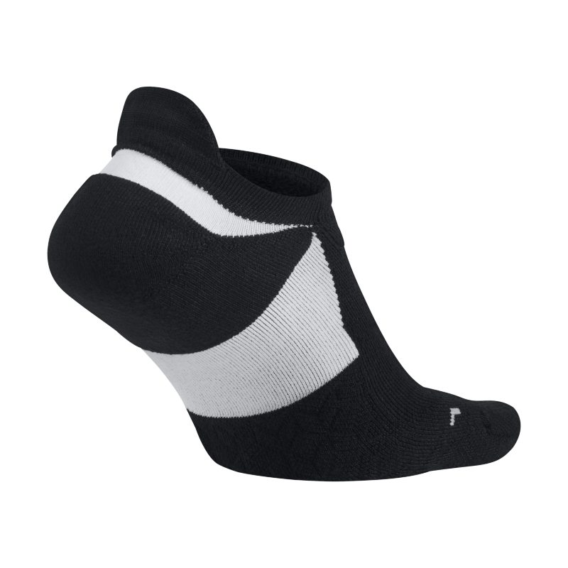 Nike Elite Cushioned No-Show Running Socks - Black