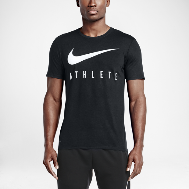 nike swoosh athlete men 39 s t shirt. Black Bedroom Furniture Sets. Home Design Ideas