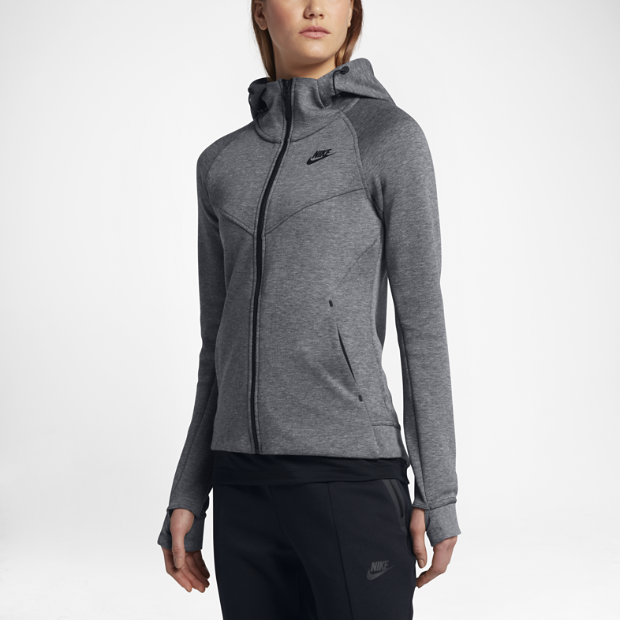 nike sportswear tech fleece women 39 s full zip hoodie. Black Bedroom Furniture Sets. Home Design Ideas
