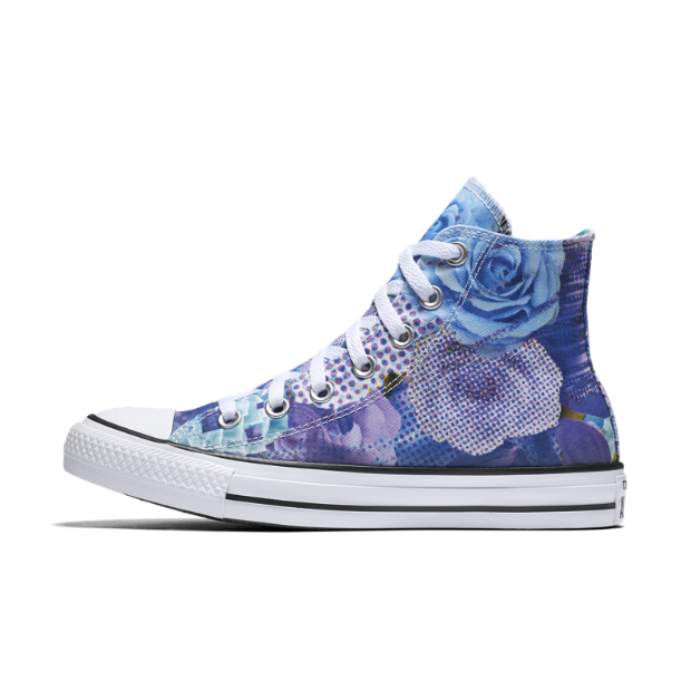 The Converse Chuck Taylor All Star Floral High Top Women's Shoe.