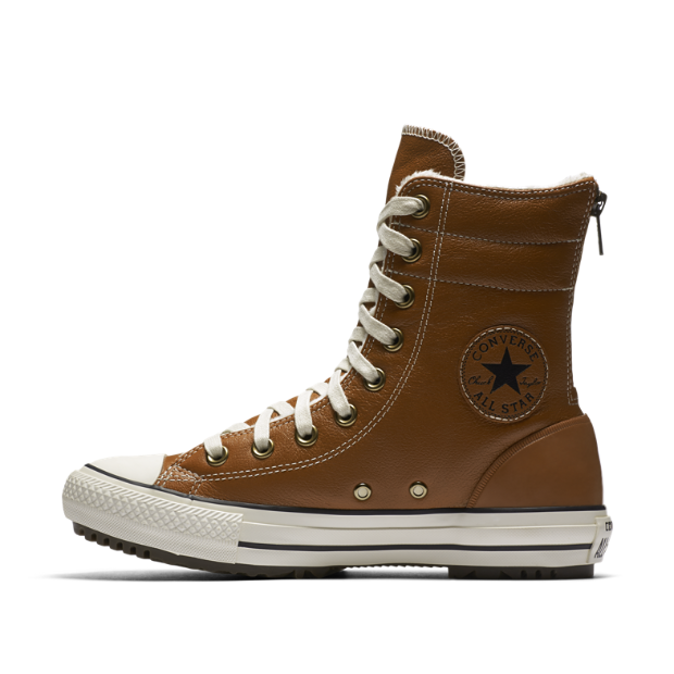 The Converse Chuck Taylor All Star Leather And Faux Fur High Rise Women's Boot.