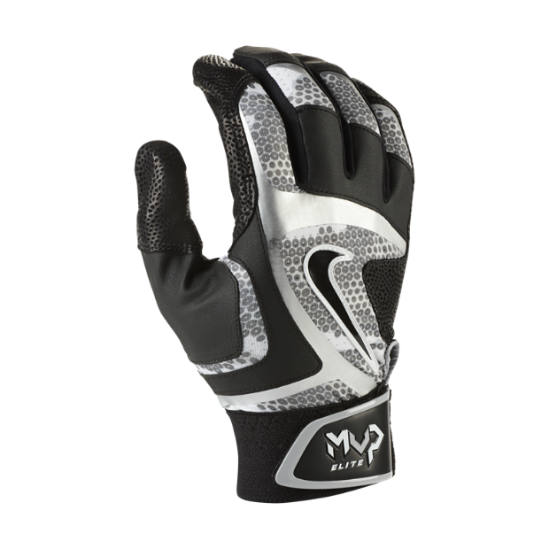 The Nike MVP Elite Baseball Batting Gloves.
