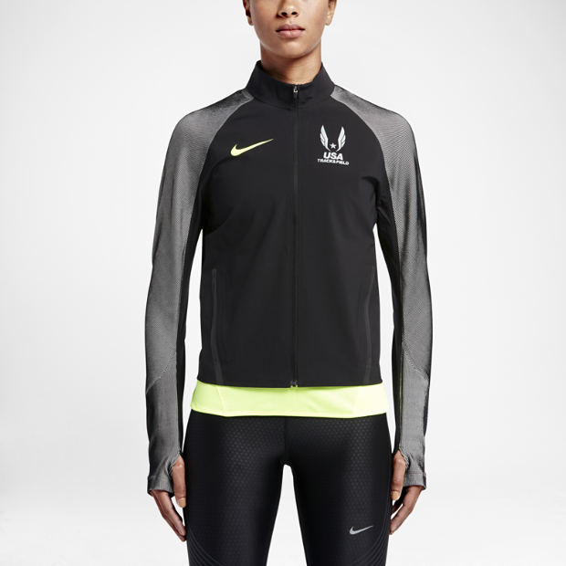 The Nike Stadium (USATF) Women's Running Jacket.