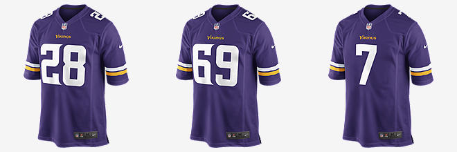 NFL Minnesota Vikings Game Jersey (Adrian Peterson)