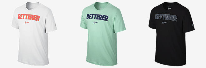 Nike store roger federer shoes shirts and gear on for Betterer t shirt nike