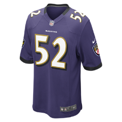NFL Baltimore Ravens (Ray Lewis) Men's American Football Home Game Jersey
