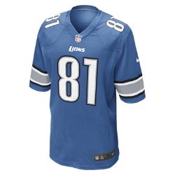 NFL Detroit Lions (Calvin Johnson) Men's American Football Home Game Jersey