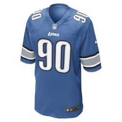 NFL Detroit Lions (Ndamukong Suh) Men's American Football Home Game Jersey