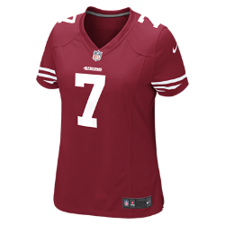 NFL San Francisco 49ers (Colin Kaepernick) Women's American Football Home Game Jersey