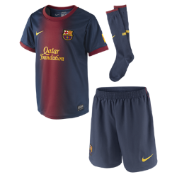 2012/13 FC Barcelona Authentic (3y-8y) Little Boys' Football Kit