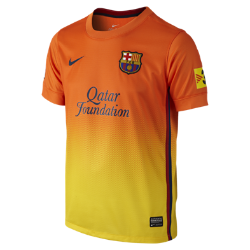 2012/13 FC Barcelona Replica Short-Sleeve (8y-15y) Boys' Football Shirt
