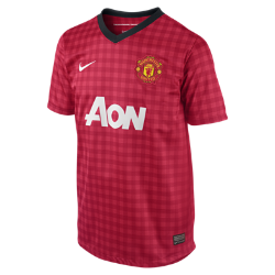 2012/13 Manchester United Replica Short-Sleeve (8y-15y) Boys' Football Shirt