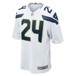 NFL Seattle Seahawks (Marshawn Lynch) Men's American Football Away Game Jersey
