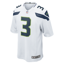NFL Seattle Seahawks (Russell Wilson) Men's American Football Away Game Jersey