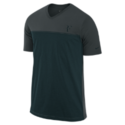 Federer Hard Court Colourblock Men's Tennis T-Shirt