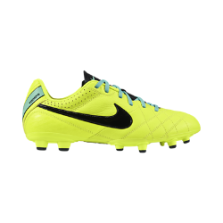 Nike Tiempo Natural IV Leather FG Boys' Firm-Ground Football Boot