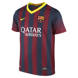 2013/14 FC Barcelona Stadium (8y-15y) Kids' Football Shirt