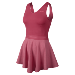 Nike Heathered V-Neck Women's Tennis Dress