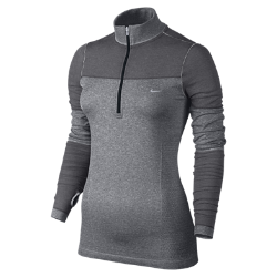 Nike Dri-FIT Knit Long-Sleeve Half-Zip Women's Running Shirt