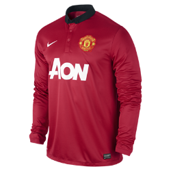 2013/14 Manchester United Stadium Long-Sleeve Men's Football Shirt