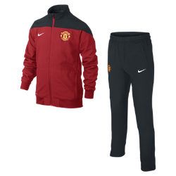 Manchester United Squad Sideline Woven (8y-15y) Kids' Football Warm-Up