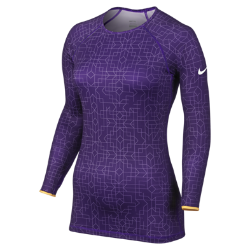Nike Pro Hyperwarm Fitted Printed Crew II Women's Shirt