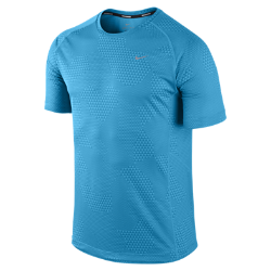 Nike Miler Printed Short-Sleeve Men's Running Shirt
