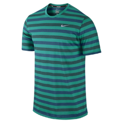 Nike Dri-FIT Touch Tailwind Short-Sleeve Striped Men's Running Shirt