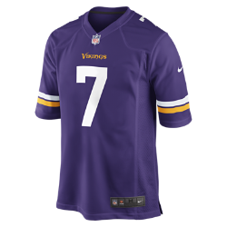 NFL Minnesota Vikings (Christian Ponder) Men's American Football Home Game Jersey