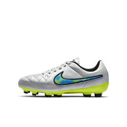 Nike Jr. Tiempo Genio Leather Kids' Firm-Ground Football Boot