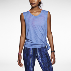 Nike Dri-FIT Touch Club Side-Tie Stripe Women's Training Top