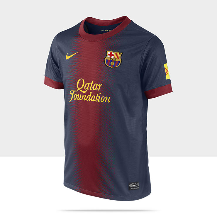 2012/2013 FC Barcelona Replica - maillot de football &agrave; manches courtes pour Gar&ccedil;on (8-15 ans)