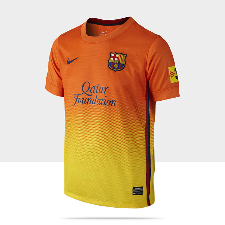 2012/13 FC Barcelona Replica Short-Sleeve - Maillot de football pour Gar&ccedil;on (8-15 ans)