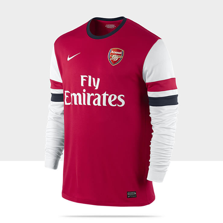 2012/2013 Arsenal Football Club Replica Long-Sleeve - Maillot de football à manches longues pour Homme