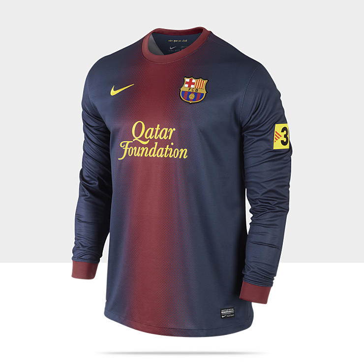 2012/2013 FC Barcelona Replica Long-Sleeve - Maillot de football &agrave; manches longues pour Homme