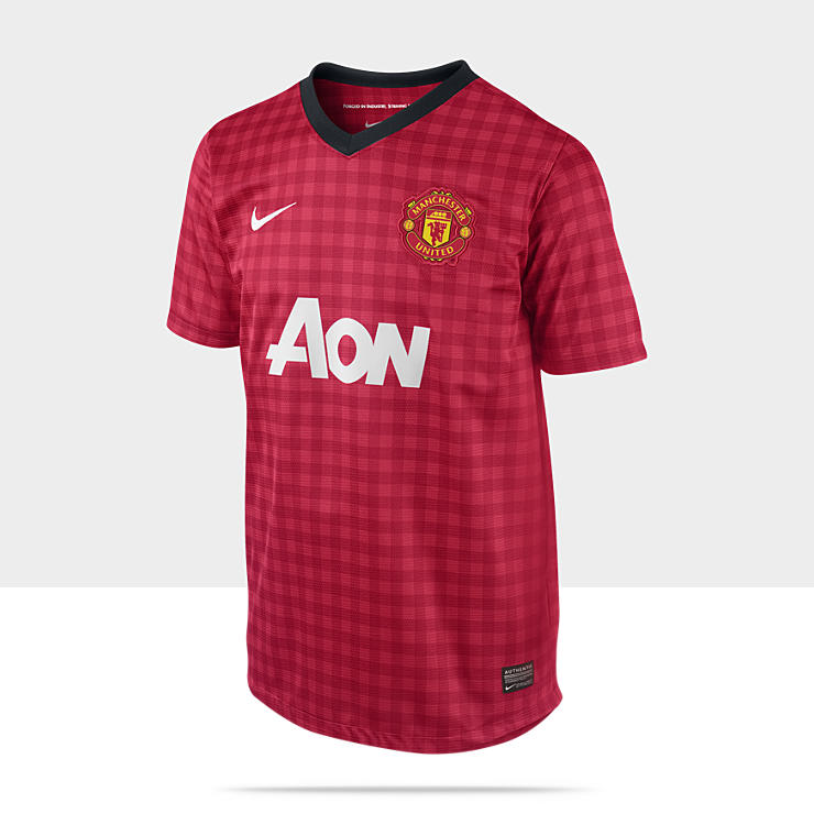2012/2013 Manchester United Replica Short-Sleeve Camiseta de f&uacute;tbol - Chicos (8 a 15 a&ntilde;os)