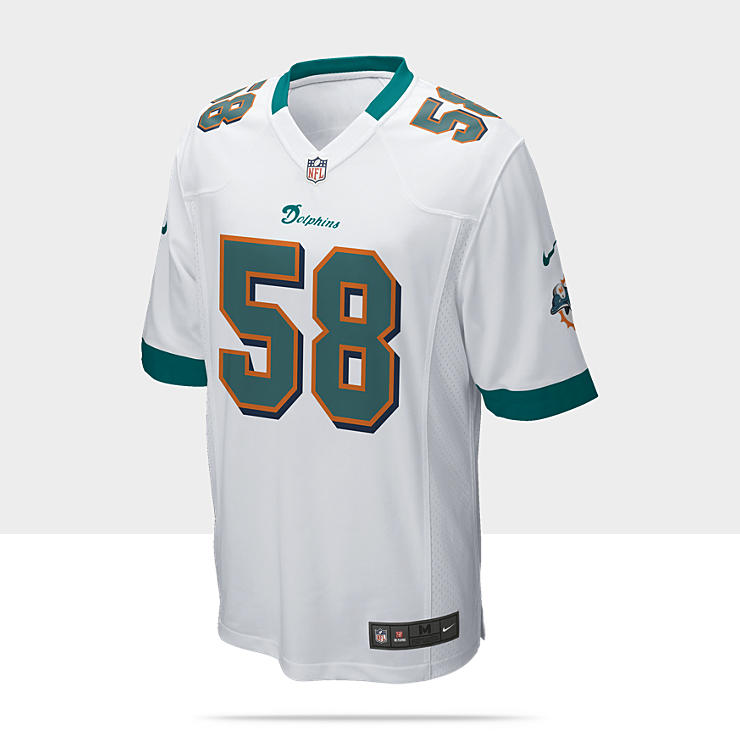 NFL Miami Dolphins (Karlos Dansby) - Maillot de football am&eacute;ricain ext&eacute;rieur pour Homme