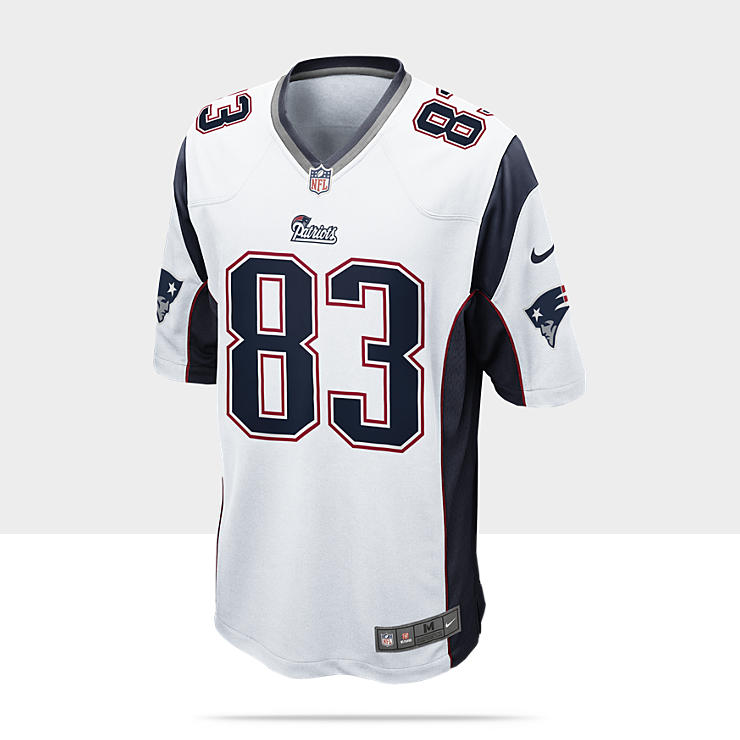 NFL New England Patriots (Wes Welker) Camiseta de f&uacute;tbol americano de 2&ordf; equipaci&oacute;n - Hombre