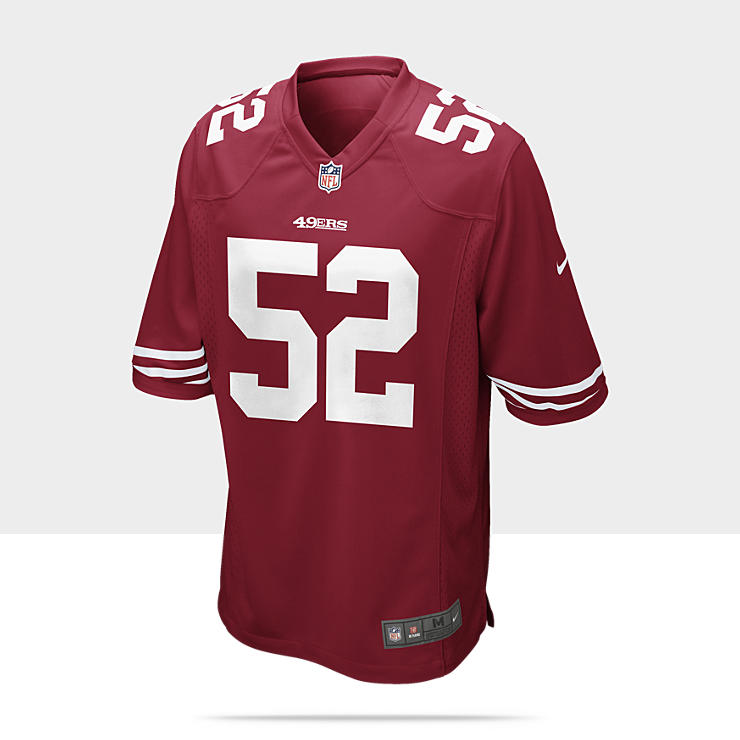 NFL San Francisco 49ers (Patrick Willis) Camiseta de f&uacute;tbol americano de 1&ordf; equipaci&oacute;n - Hombre