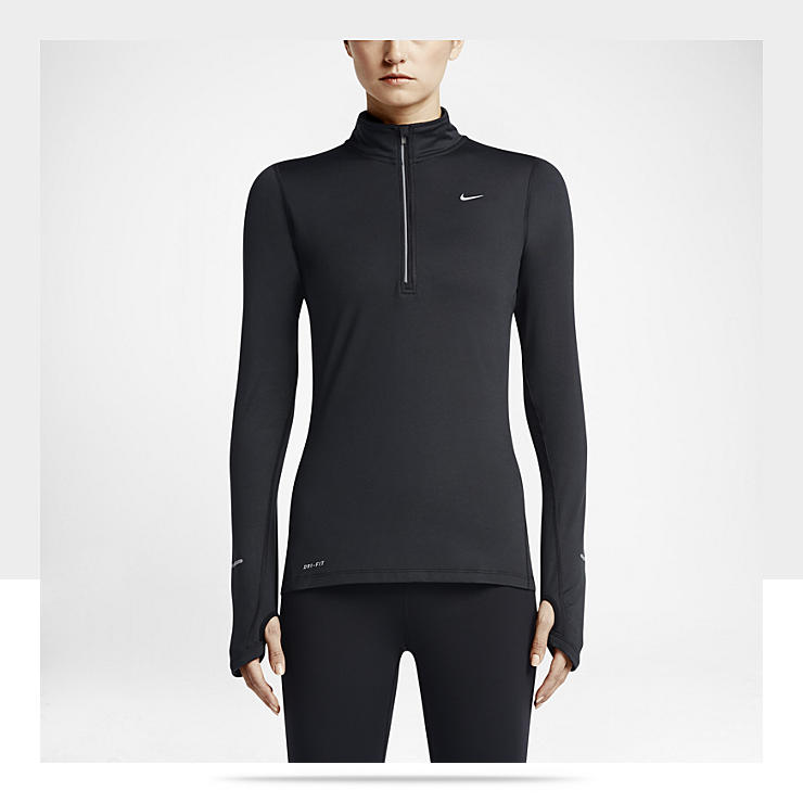 Maillot de course &agrave; pied Nike Element &agrave; demi-zip pour Femme