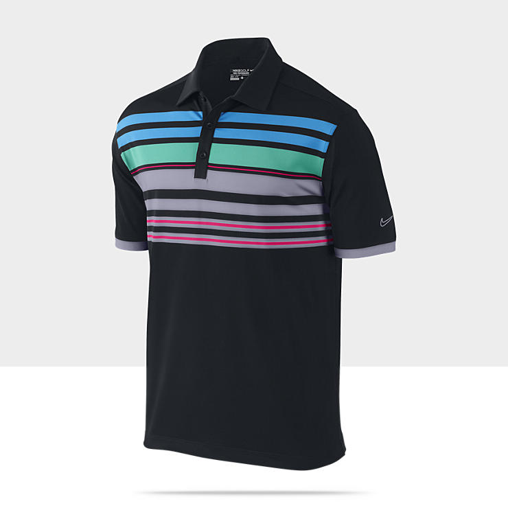 Nike Mesh Performance Stripe - Polo de golf à rayures pour Homme