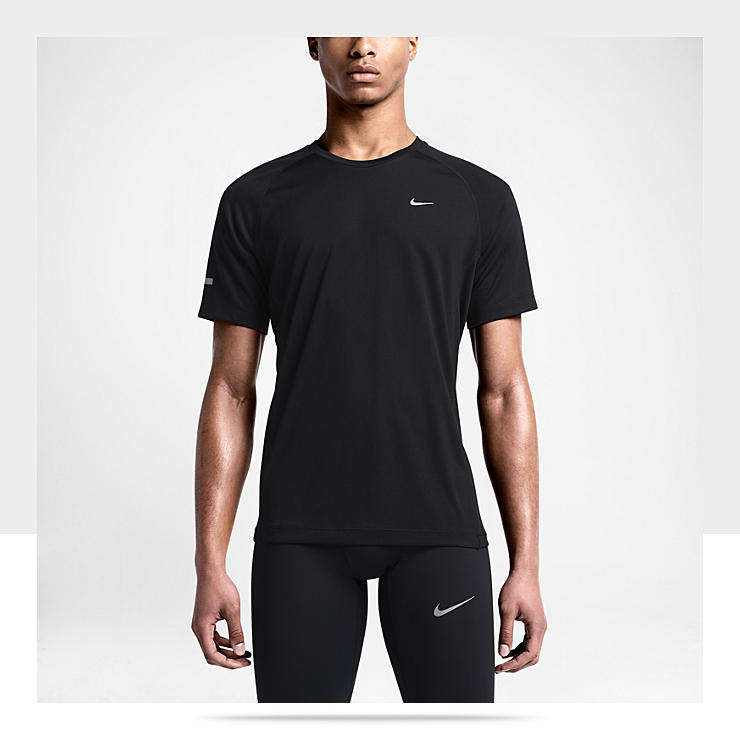 Nike Miler UV &ndash; Maillot de course &agrave; pied pour Homme