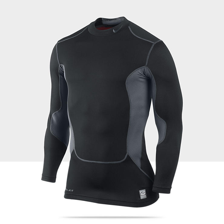 Nike Pro Combat Hyperwarm Compression Dri-FIT Max Shield – Tee-shirt à col montant pour Homme
