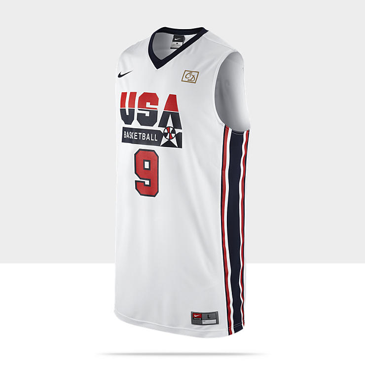 Nike Replica Retro USA - Maillot de basket-ball pour Homme