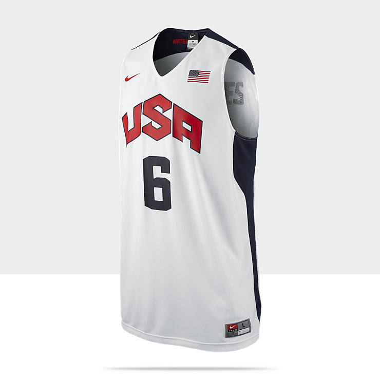 Nike Replica USA (James) - Maillot de basket-ball pour Homme