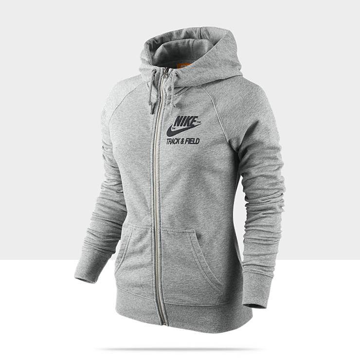 Nike Track and Field Read &ndash; Sweat &agrave; capuche enti&egrave;rement zipp&eacute; pour Femme